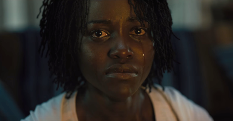 A movie still of Lupita Nyong'o as Adelaide Wilson from the 2019 film Us.