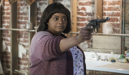 A movie still of Octavia Spencer as the character Sue Ann, from the 2019 film Ma.