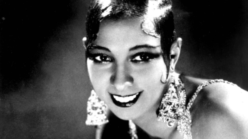 Portrait of Josephine Baker smiling.