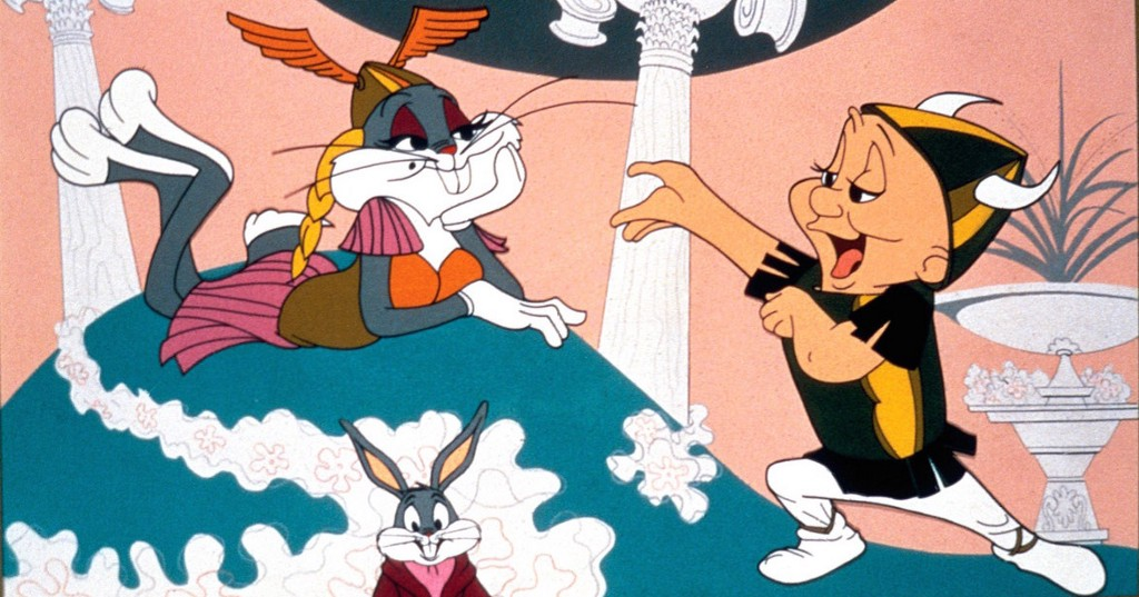 Elmer Fudd serenades a Valkyrie Bugs Bunny. Image Courtesy of Warner Bros. Pictures