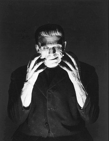 Portrait photo of Frankenstein.