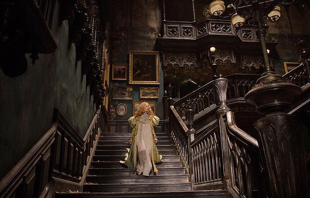 Mia Wasikowska as Edith Kushing in movie still from Crimson Peak
