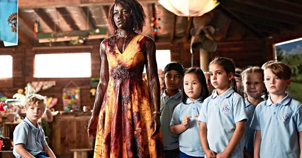 Movie still of Lupita Nyong'o in Little Monsters.