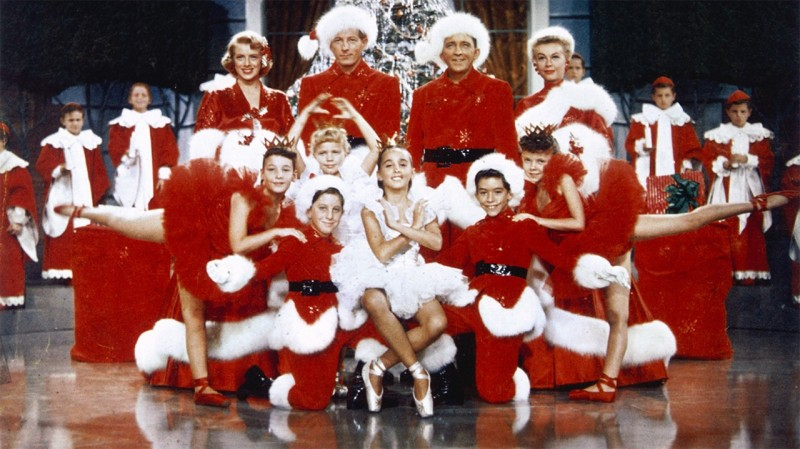 Bing Crosby, Danny Kaye and others in Santa outfits