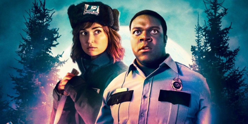 Finn and Cecily stand together in their respective uniforms. Finn looks at something in the distance, seemingly perturbed, whilst a similar trepidatious Cecily coyly clutches a knife